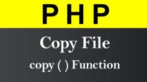 PHP Recursive copy files